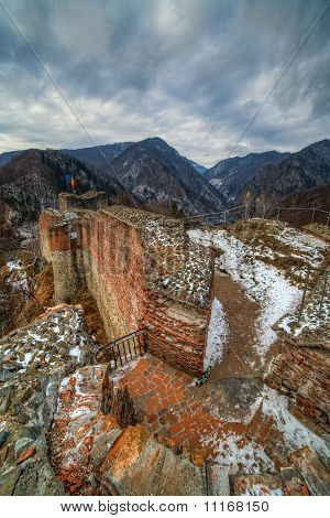 Dracula's Fortress At Poienari, Romania