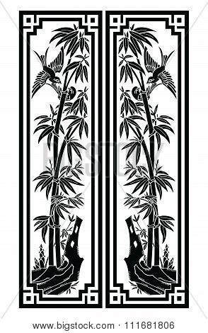 Vector Bamboo Bookmark size illustration isolated on white
