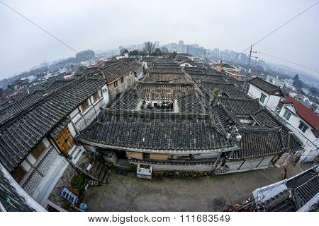 Panoramic View Of Bukchon Hanok Village
