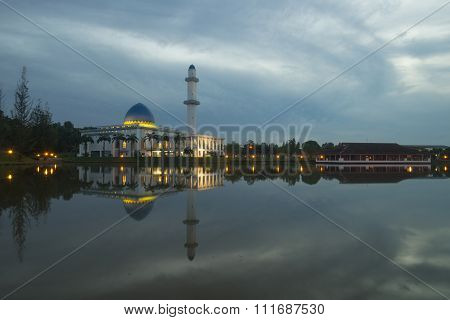 The Uniten Mosque at dawn, in Putrajaya, Malaysia