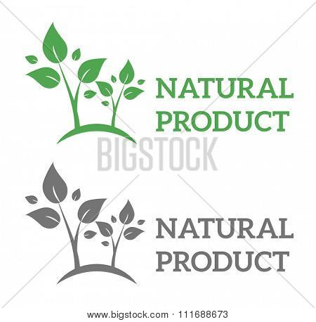 Natural eco organic product label badge vector icon. Badge eco emblem logo. Eco product label badge design elements. Badge natural food icon isolated. Farm product healthy food logo badge design