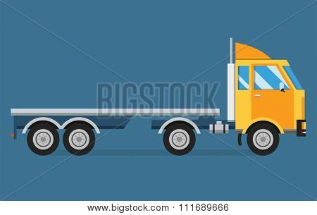 Delivery vector transport truck van gift box pack. isolated on white. Delivery service van, delivery truck, delivery car. Delivery box silhouette. Product goods shipping transport. Fast delivery truck