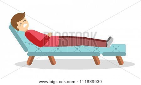 Psychologist office cabinet room vector illustration. Psychologist having psychological therapy session. Psychologist office vector. Psychological therapy session illustration. Psychological therapy