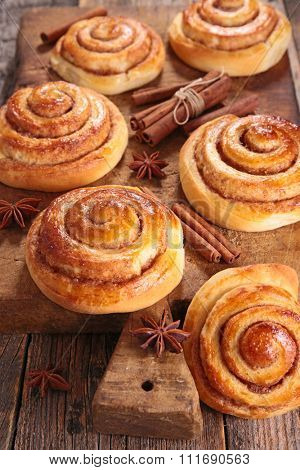 cinnamon roll on board