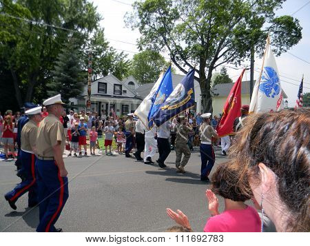 Military Members in 4th of July Parade