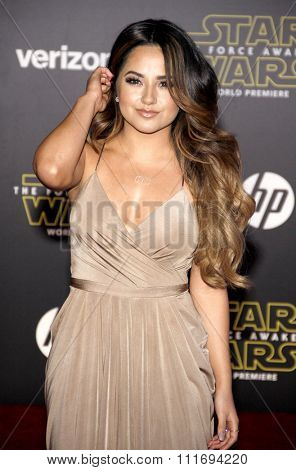 Becky G at the World premiere of 'Star Wars: The Force Awakens' held at the TCL Chinese Theatre in Hollywood, USA on December 14, 2015.