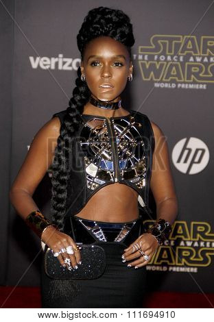 Janelle Monae at the World premiere of 'Star Wars: The Force Awakens' held at the TCL Chinese Theatre in Hollywood, USA on December 14, 2015.