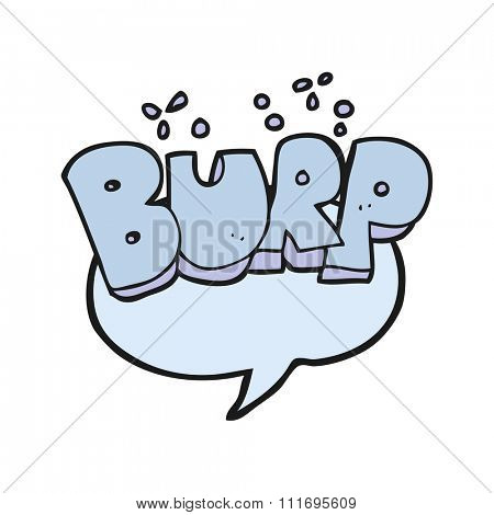 freehand drawn cartoon burp symbol