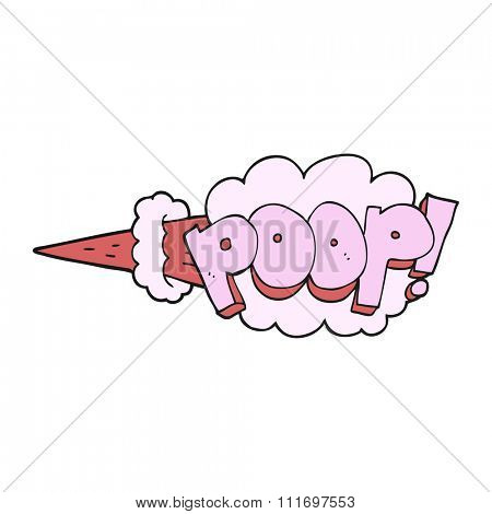 freehand drawn cartoon poop explosion