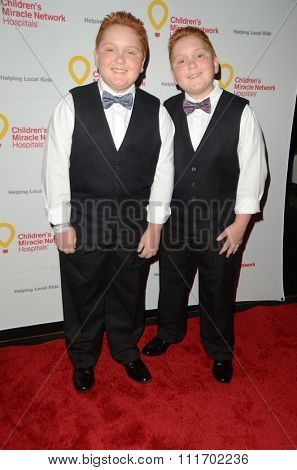 LOS ANGELES - DEC 12:  Matthew Royer, Benjamin Royer at the Childrens Miracle Network Winter Wonderland Ball, at the Avalon Hollywood on December 12, 2015 in Los Angeles, CA