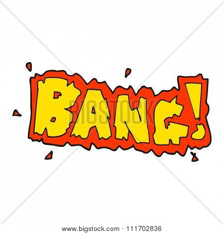 freehand drawn cartoon bang symbol
