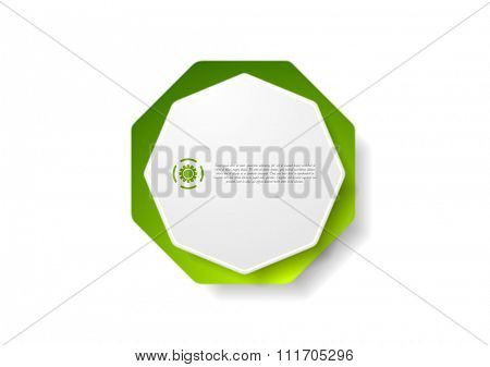 Abstract geometric octagon shape sticker design. Vector background
