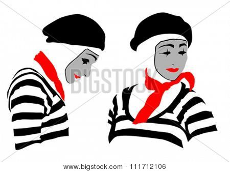 Man in a clown suit and hat on a white background