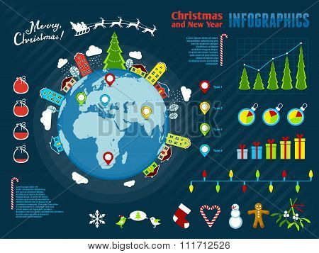 Christmas Infographics. Vector Illustration, Eps10.