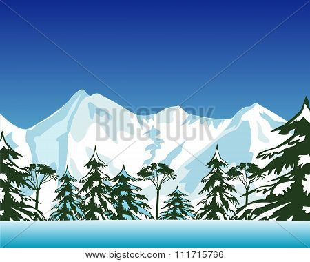 High snow mountains