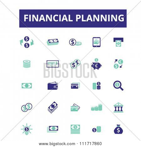 finance, banking, money, investment  icons, signs vector concept set for infographics, mobile, website, application