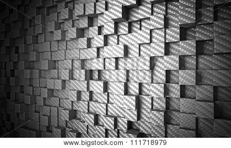 3d carbon fiber cubes  background