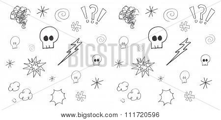 Swearing doodles