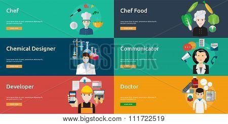 Human Profession Banner Set