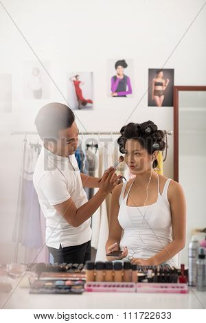 Doing professional make-up