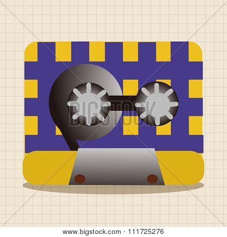 Audiotape Theme Elements Vector,eps