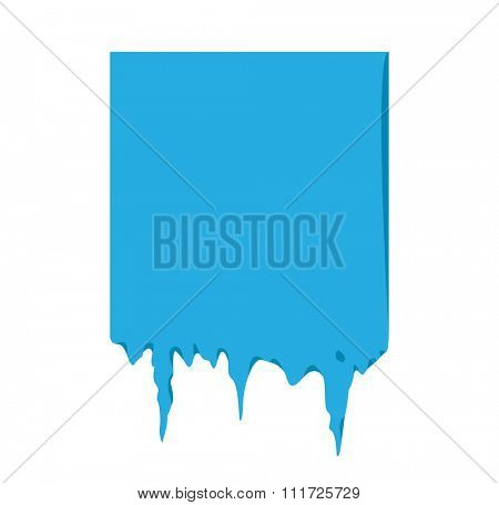 Frozen snow winter vector banner. Icicle vector snow banner, snow ribbon, snow label, icicle emblem. Winter New Year sale, Christmas sale banners. Vector banner isolated icon