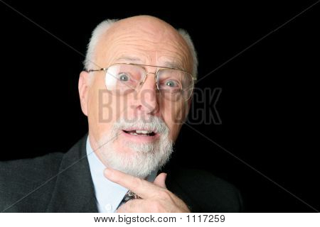 Stock Photo Of Surprised Senior Man