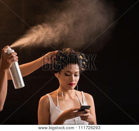 Fixing curls