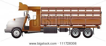 Old truck wood truck vintage retro truck vector design