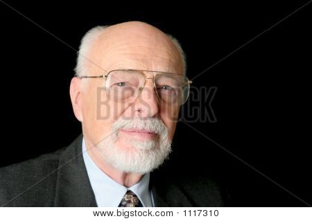 Stock Photo Of Serious Senior Man