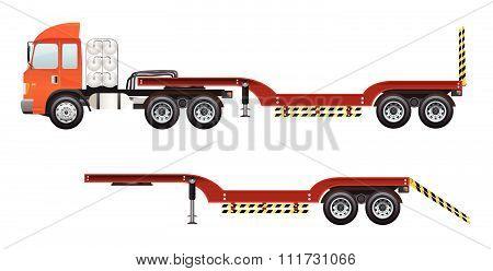 blank truck trailer vector design