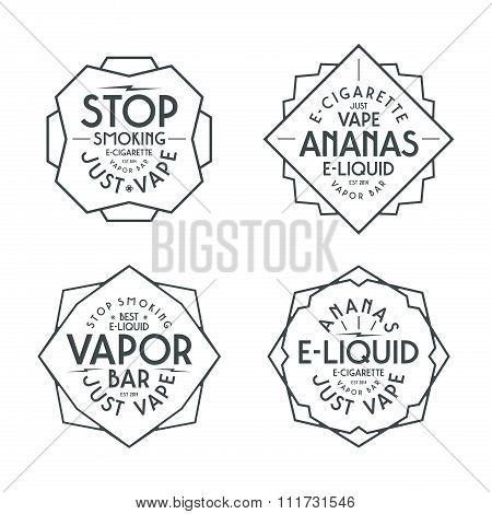Vapor Bar And Vape Shop Labels