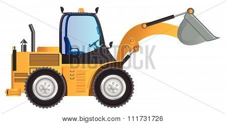 Loader yellow car vector design model