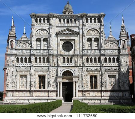 Famous Church Called Certosa Di Pavia In Lombardy Region