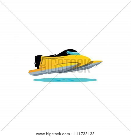 Water races. Vector Illustration.