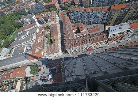 Aerial View Of The City Of Turin From The Highest Building