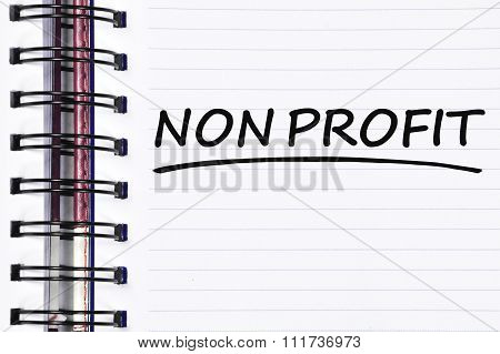 Non Profit Words On Spring Note Book