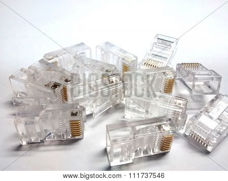 connectors RJ45 for telecommunications