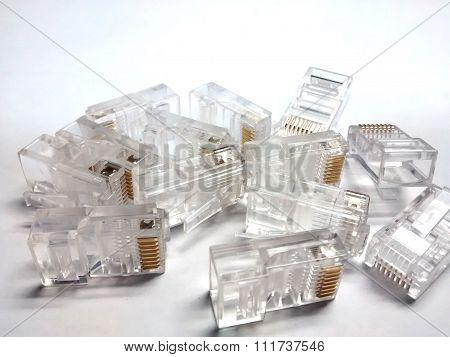 connectors RJ45 for telecommunications