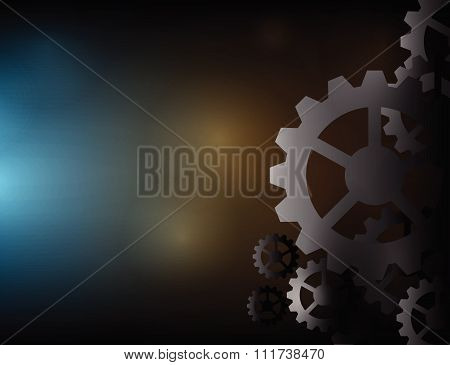 Cogs wheels dark and lights background