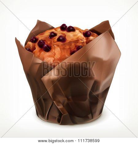 Muffin, vector icon