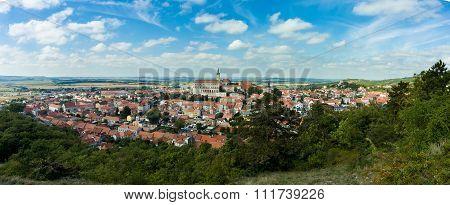 Wide Panorama Of Mikulov City