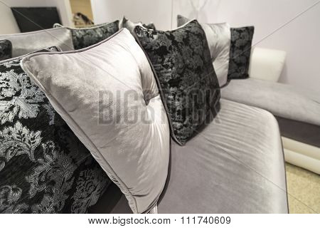 Beautiful Pillow on sofa at  home