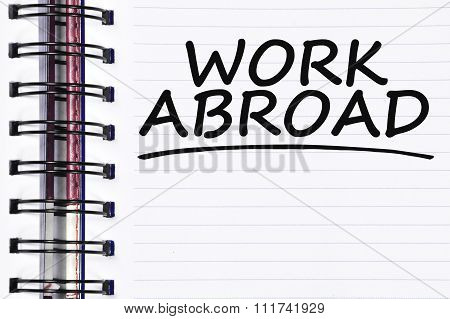 Work Abroad Words On Spring Note Book