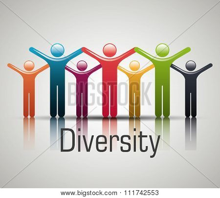 People diversity colorful icon