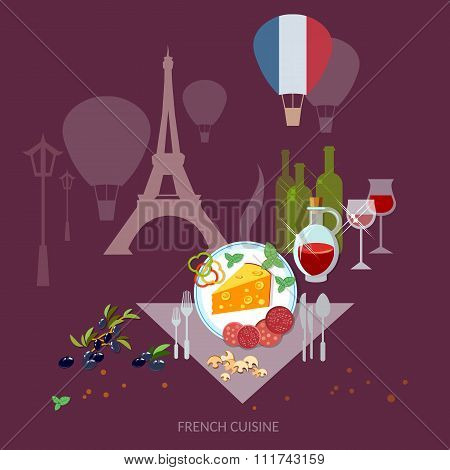 French Cuisine And Culture France Food French Wine And Cheese Restaurant Menu Template