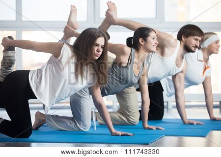 Unhappy Woman Exercising