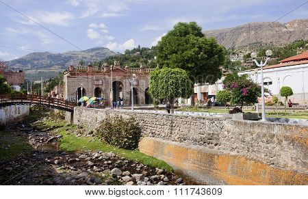 The Ruins Of The Old Memorial Gates In Ayacucho