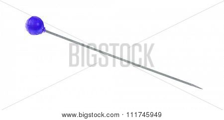 single pin isolated on white background