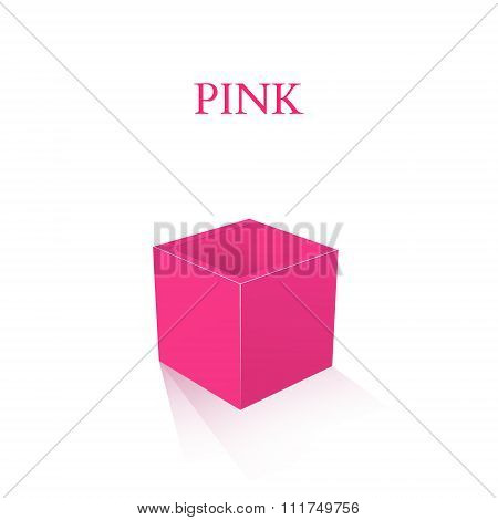 Pink Box isolated on white background. Vector